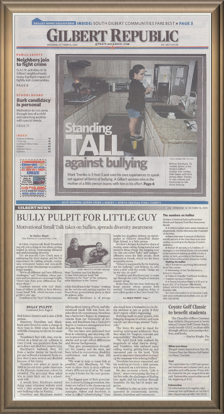 MST Britney Gilbert Paper TALL MST   In Newspaper